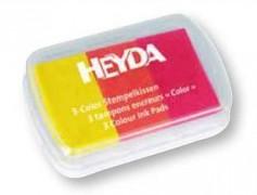 Razítkovací polštářek Heyda žlutá / oranžová / červená