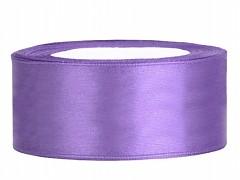 Stuha saténová světle fialová 25 mm x 25 m