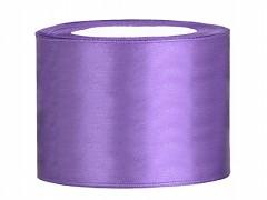 Stuha saténová světle fialová 50 mm x 25 m