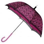 Paraplíčko (deštník) sytě růžové krajkové