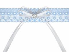 Svatební podvazek modrý č.33