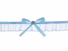 Svatební podvazek modrý č.34