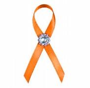 Vývazek s brožičkou oranžový
