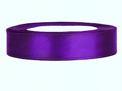 Stuha saténová fialová 12 mm x 25 m