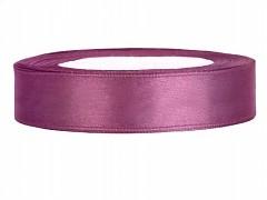 Stuha saténová švestkově fialová 12 mm x 25 m