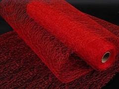 Organza pavučinka 30 cm x 9 m červená