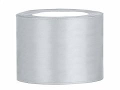 Stuha saténová stříbrná 50 mm x 25 m