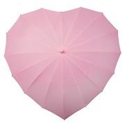 Deštník srdce světle růžové