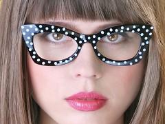 Párty brýle černé s bílými puntíky