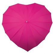 Deštník srdce fuchsiové