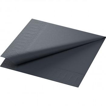 Ubrousky Duni 33x33 černé 20 ks