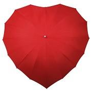 Deštník srdce vínově červené