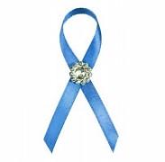 Vývazek s brožičkou modrý