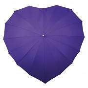 Deštník srdce jasně fialové