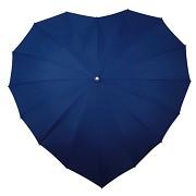 Deštník srdce tmavě modré