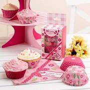 Košíčky na muffiny růžové 100 ks