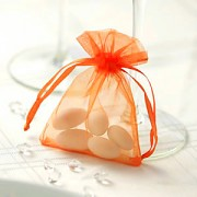 Sáček z organzy oranžový