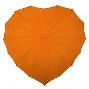 Deštník srdce oranžové II. jakost