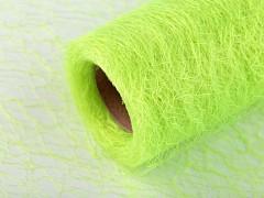 Organza pavučinka 30 cm x 9 m světle zelená