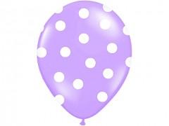 Balónek světle fialový s bílými puntíky