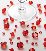 Diamanty červené mix velikostí
