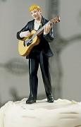 Figurka na svatební dort Ženich kytarista