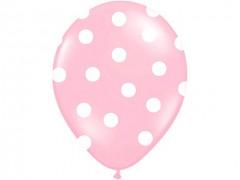 Balónek sweet světle růžový s bílými puntíky