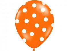 Balónek oranžový s bílými puntíky