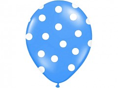 Balónek modrý s bílými puntíky