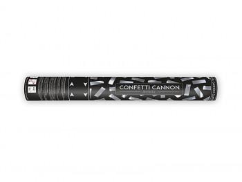 Vystřelovací konfety stříbrné 40 cm