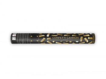 Vystřelovací konfety zlaté 40 cm