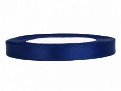 Stuha saténová tmavě modrá 6 mm x 25 m
