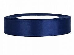 Stuha saténová tmavě modrá 12 mm x 25 m