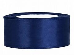 Stuha saténová tmavě modrá 25 mm x 25 m