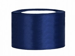 Stuha saténová tmavě modrá 38 mm x 25 m
