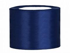 Stuha saténová tmavě modrá 50 mm x 25 m
