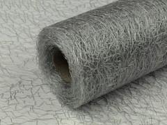Organza pavučinka 30 cm x 9 m šedá