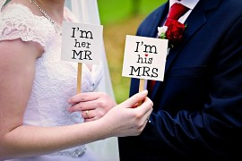 Cedulka I´m her Mr a I´m his Mrs