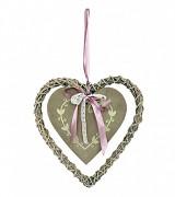Proutěné srdce s cedulkou