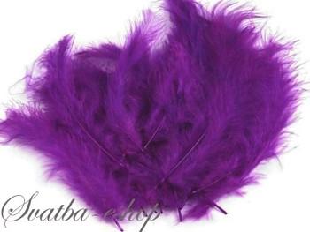 Ozdobné peříčko jasně fialové 20 ks