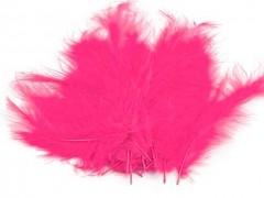 Ozdobné peříčko jasně růžové 20 ks