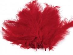 Ozdobné peříčko rudé 20 ks