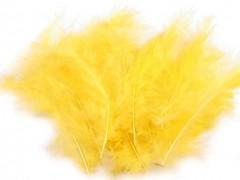 Ozdobné peříčko žluté 20 ks