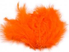 Ozdobné peříčko oranžové 20 ks