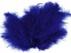 Ozdobné peříčko královsky  modré 20 ks