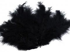 Ozdobné peříčko černé 20 ks