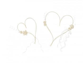 Dekorace na svatební auto srdce z ratanu