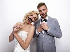 Kníry na svatební focení