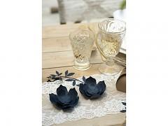 Papírová dekorace květy tmavě modré