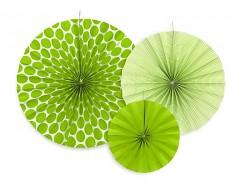 Rozety světle zelené 3 ks